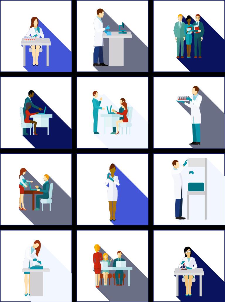 source human biospecimens R&D scientists office set