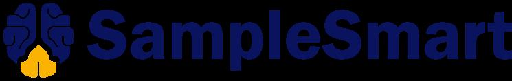 samplesmart logo brain blue yellow